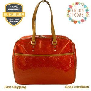 🌻💯Louis Vuitton Laptop Bag Business Red Leather
